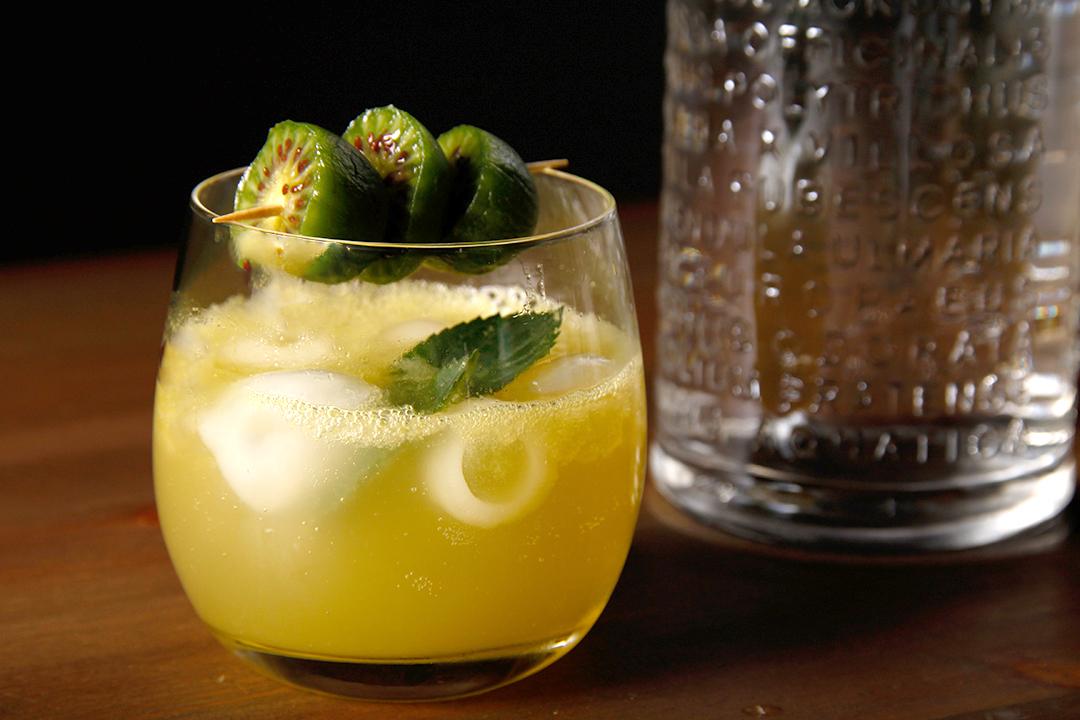 Gin mit Kiwi